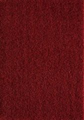 Rode Basic Collection Vloerkleed Shaggy Rood Effen Hoogpolig Tapijt Loca - 120x170 cm