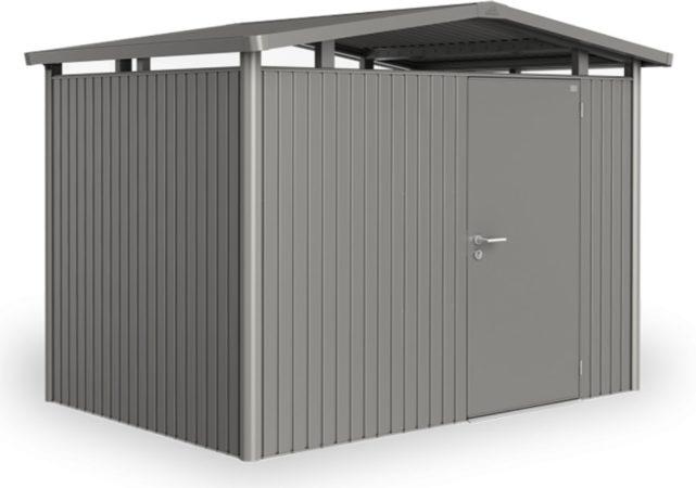 Afbeelding van Biohort Panorama® P1 kwartsgrijs metallic 1 deurs - 273 x 158 x 227 cm