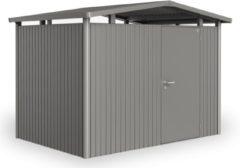 Biohort Panorama® P1 kwartsgrijs metallic 1 deurs - 273 x 158 x 227 cm