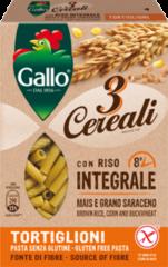 RISO GALLO SpA Riso Gallo Tortiglioni 3 Cereali Pasta Senza Glutine 250g