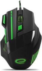 Groene Esperanza Optische USB Game Muis 7D Wolf met LED - max DPI 2400 - Groen