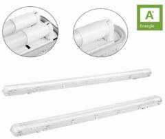 WoonQ Zuinige en Waterdichte Enkele of Dubbele LED balk incl. LED TL buizen (120 cm)