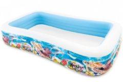 Intex Tropical Reef Swimming Pool - Multicolor - Rectangle - 305 x 183 x 56 cm