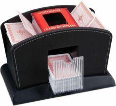 Relaxdays kaartschudmachine leer - 4 decks - elektrisch zwart - kaartschudder automatisch