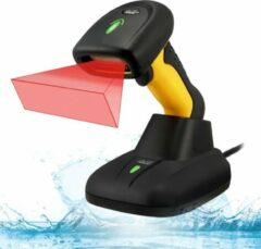 Blauwe Adesso NUSCAN 5200TR 2.4GHz RF Wireless Antimicrobial Waterproof Industry Wireless 2D Barcode Scanner