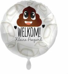 Everloon - Folieballon - Welkom Kleine Poeperd - 43cm - Geboorte baby