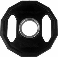 Zwarte Tunturi Olympische Halterschijven - Halter gewichten - 2x 1,25kg - 50mm - Rubber