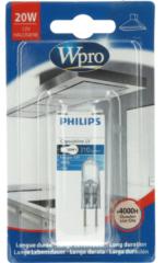 WPRO Lampe Halogenlampe G4 20W 12V 300°C (mit Stiftanschluss, bis 300° C, 12 Volt) für Dunstabzugshauben LMH008 481281728422
