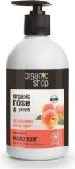 Organic Shop - Organic Rose & Peach Nourishing Hand Soap Odżywcze Mydło Do Rąk 500Ml - 500ML