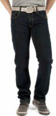 Blauwe Alexander Maskovick Maskovick Heren Jeans Clinton stretch Regular - Kleur: BlueBlack - Maat: 30/30