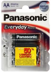 Batterie Everyday Power LR6EPS/4BP Panasonic bunt/multi
