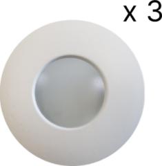 Witte Saniclass verlichtingsset LED 3 spots+arm SD-2012-03