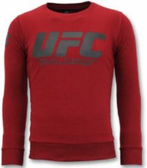 Rode Local Fanatic Exclusieve Sweater Heren - UFC Championship Trui - Bordeaux Sweaters / Crewnecks Heren Sweater Maat XL