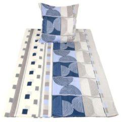 Stoffhanse CoolSummer Bettwäsche, blau-grau, 2-teilig
