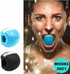 Blauwe Merkloos / Sans marque Kaaklijn trainer - Kaak trainer - Jawline trainer - Kaakspier trainer - Jawline exercise - Facial Toner - Kaaklijn Trainer - Anti Aging apparaat - Onderkin trainer