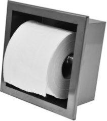 Roestvrijstalen Saqu Inbouw Toiletrolhouder RVS