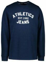 Marineblauwe Cars Jeans Cars - Heren - Sweater met Ribmotief - Ronde Hals - Model Sonics - Navy