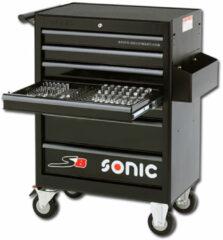 SONIC Equipment Sonic Gereedschapswagen gevuld 285 delig 7 laden zwart S8