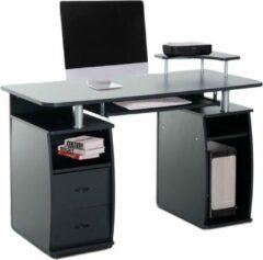 Merkloos / Sans marque Bureau - Schrijftafel - Computerbureau - 2 Laden - Opslagruimte - 120 x 60 x 87 cm - Zwart
