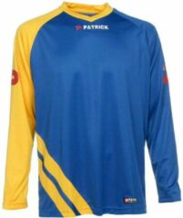 Patrick Victory Voetbalshirt Lange Mouw - Royal / Geel | Maat: XL
