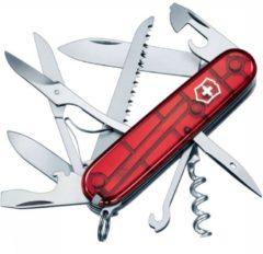 Victorinox Huntsman 1.3713.T Zwitsers zakmes Aantal functies: 15 Rood (transparant)