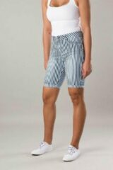 Blauwe New Star dames short Stockholm stripe - maat S