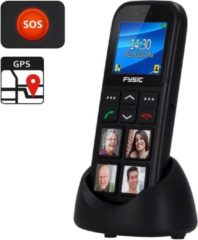 Fysic FM-50 GSM met GPS en fototoetsen - 4 Grote fototoetsen - Zwart