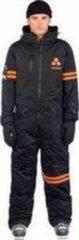 Zwarte Oneskee original Pro suit Black/Orange stripes | Maat L | Skipak | Snowboardpak | Onesie | Ski overall | Snowsuit | Wintersportpak | Waterdicht skipak | Freeride skiuit | Off piste wintersportkleding