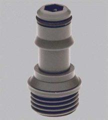 Grijze Grohe Relexa koppelstuk naar nieuwe handdouche en slang uitgerust met Grohclick grijs 28635xx0