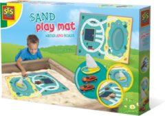 SES Outdoor Zandbak Speelmat Water en Wegen + 3 Voertuigen