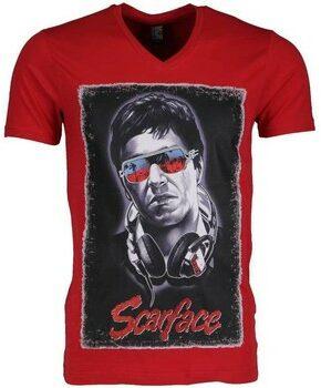 Afbeelding van Rode T-shirt Korte Mouw Mascherano T-shirt - Scarface