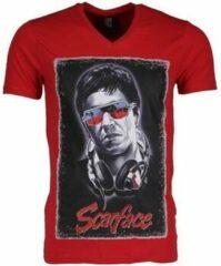 Rode T-shirt Korte Mouw Mascherano T-shirt - Scarface
