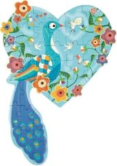 Scratch Legpuzzel Pauw Junior 58 Cm Karton Blauw 40 Stukjes