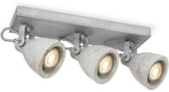 Light Depot - LED Opbouwspot Vedi - 3 lichts ↔ 35,5 cm - Grijs - Beton