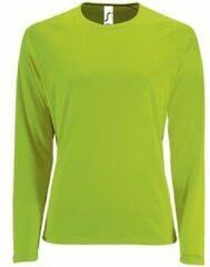 Groene T-Shirt Lange Mouw Sols SPORT LSL WOMEN
