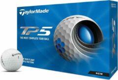 Witte TaylorMade TP5 Golfballen 2021 - Dozijn / 12 stuks