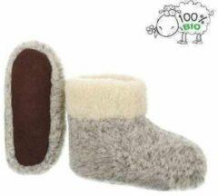 Chimb Pantoffels 100% lamswol maat 38 | Grijs-wit | Sloffen | Heerlijk warm!
