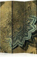 Groene Kamerscherm - Scheidingswand - Vouwscherm - Golden Treasure [Room Dividers] 135x172 - Artgeist Vouwscherm