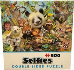 Cheatwell Double sided puzzel - Selfies - Jungle - 500 stukjes