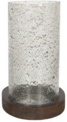 Clayre & Eef Theelichthouder 6GL3000 Ø 22*33 cm - Transparant Glas Waxinelichthouder Windlichthouder