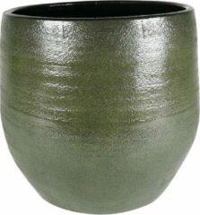 Donkergroene Plantenwinkel.nl Plantenwinkel Pot Zembla groen ronde bloempot binnen 32 cm