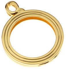 Quoins QHO-15M-G Munthouder Staal goudkleurig Medium