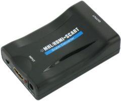 Zwarte Dolphix HDMI naar Scart omvormer