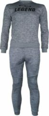Legend Sports Joggingpak dames/heren met trui/sweater Grijs 10-11 jaar