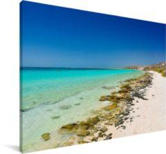 Blauwe MuchoWow Fantastische stranden bij de Kust van Ningaloo Canvas 90x60 cm - klein - Foto print op Canvas schilderij (Wanddecoratie woonkamer / slaapkamer)