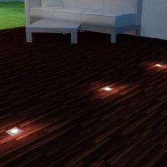 Zilveren VidaXL LED-grondspots buiten vierkant 3 st