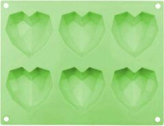 Cabantis Hart bakvorm|Siliconen bakvormen|Siliconen mallen|Bak spullen|Cake vorm|Chocolade cadeau|Chocolade hart|Groen