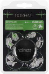 Groene NOIZEZZ gehoorbescherming NOIZEZZ Premium festival oordopjes – UITGAAN & FESTIVALS - incl. 4 maten en bewaarblikje