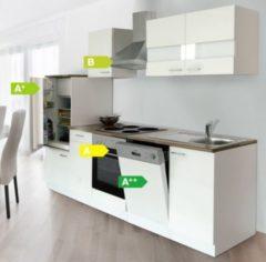 Respekta kitchen economy Respekta Küchenzeile KB280WW 280 cm Weiß