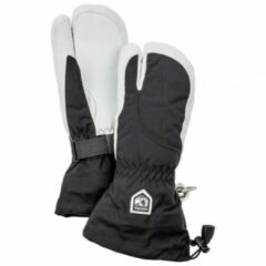 Grijze Hestra - Women´s Heli Ski 3 Finger - Handschoenen maat 5 zwart/grijs
